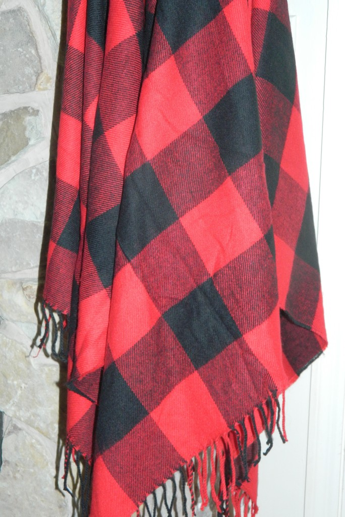 H&M plaid cape