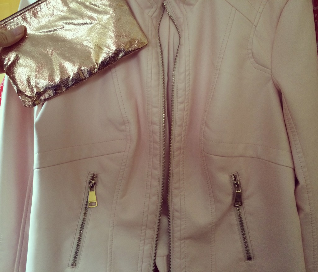 Bebe moto jacket and wristlet