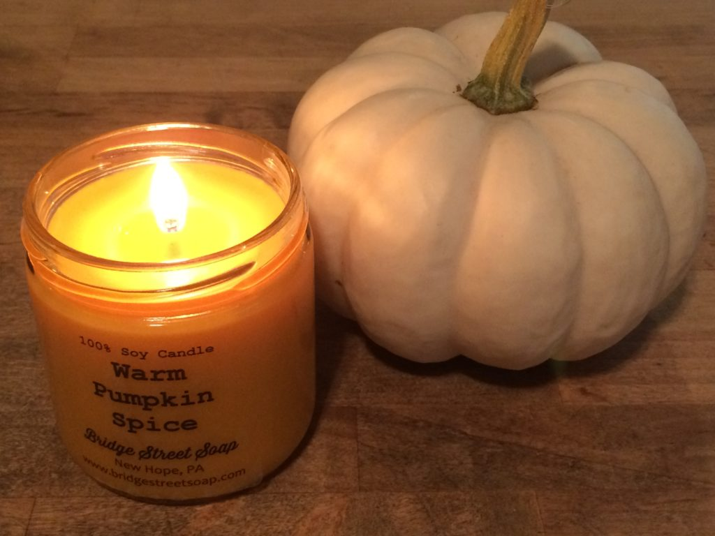 warm pumpkin spice candle