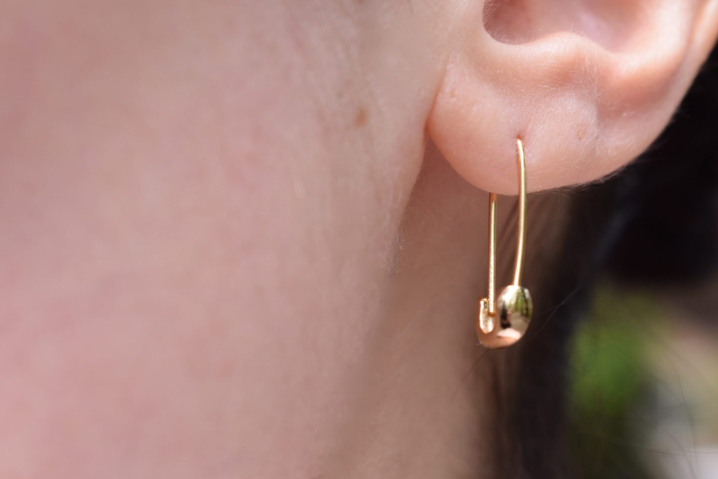 1bd3ab342 ... safety pin earrings by Kris Nations were just too cute to pass up. The  gold vermeil is very lightweight and comfortable and can be worn together  with ...